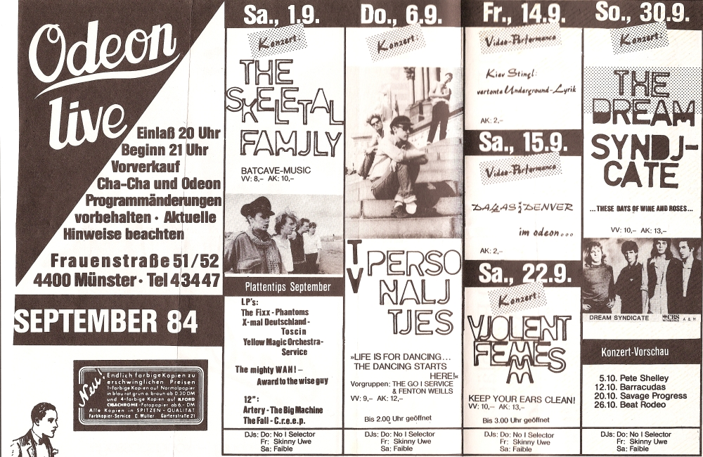European tour flier 1984
