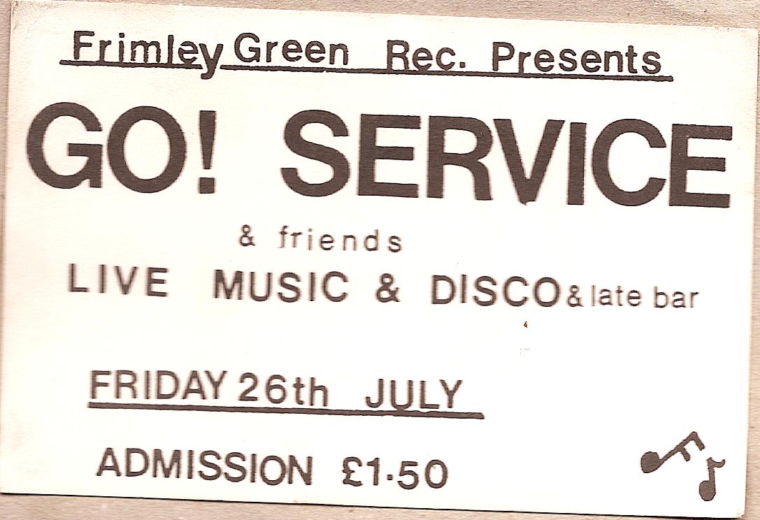 Frimley Green Gig Ticket