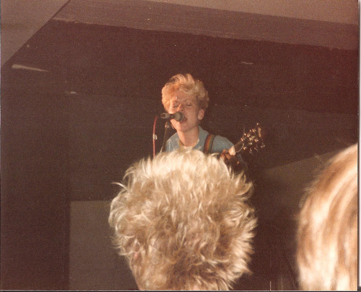 On stage European tour 1984