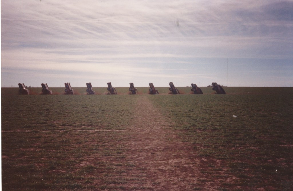 We saw what looked like upturned cars across a field in Texas,