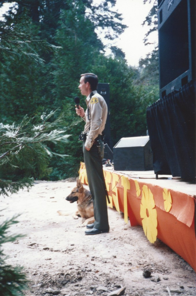 A talk by a mountain ranger and his dog!